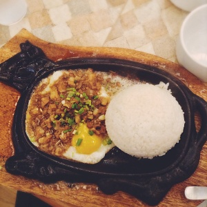 Couldn't they get a pork shaped plate for pork sisig?