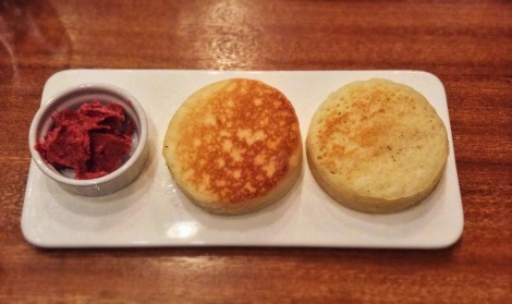 Crumpets with Blackberry Butter
