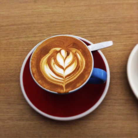 Flat White with art