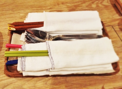 Ooh, colorful chopsticks!
