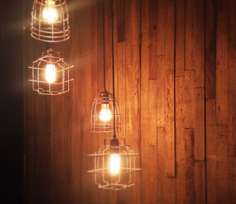 Light fixtures and wood
