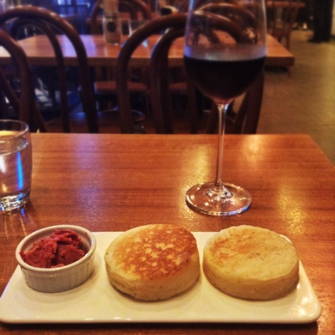 Crumpets with Red Wine - Potts Point Cafe