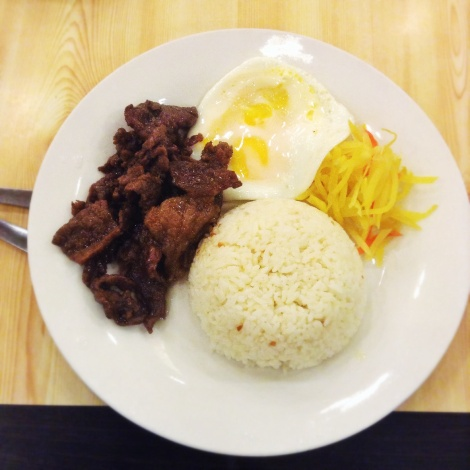 "Even the server just called it ""Tapsilog"". I mean you really can't tell what cut of the beef this is from at this point."