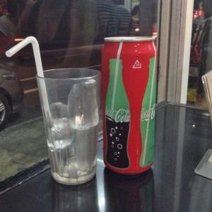 Japanese Coke is very tall but tastes just like Coke! Huh!