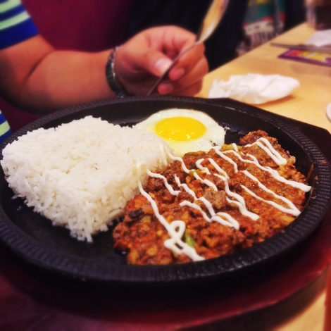 Tasted exactly like the pork sisig, or was it because of the heat?