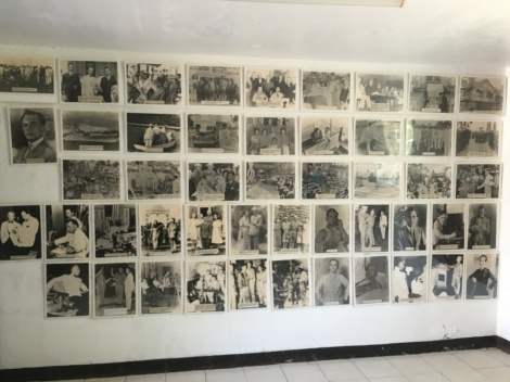 A wall full of picture of President Quezon at the small museum in the Philippine Heroes Memorial
