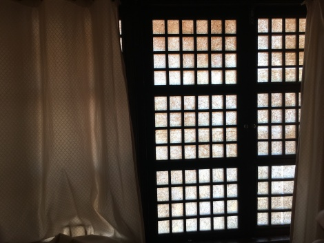The rooms are airconditioned and have these capiz windows. There was no TV set. It really was an escape from the Metro. Good morning!